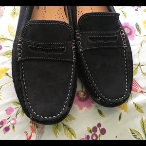 Rockport mens navy loafers driving shoes 8.5